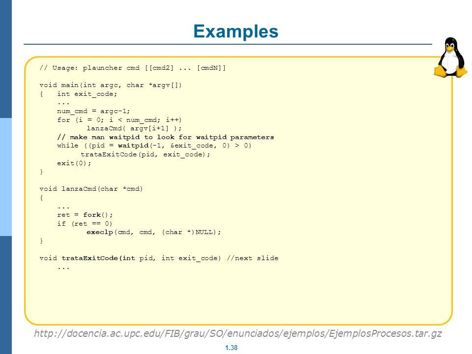 Examples // Usage: plauncher cmd [[cmd2] ... [cmdN]] void main(int argc, char *argv[]) { int exit_code;